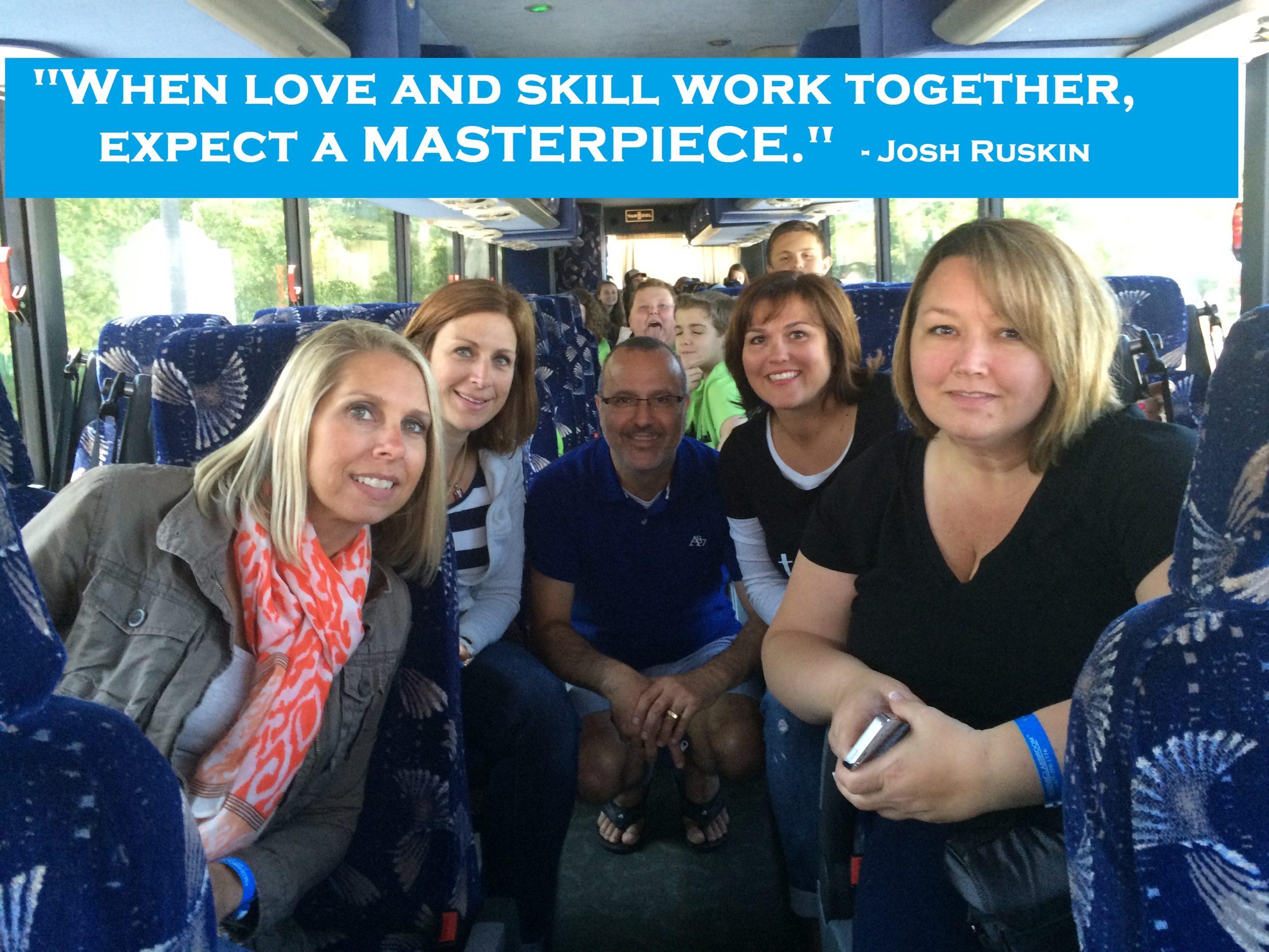Teachers on a bus