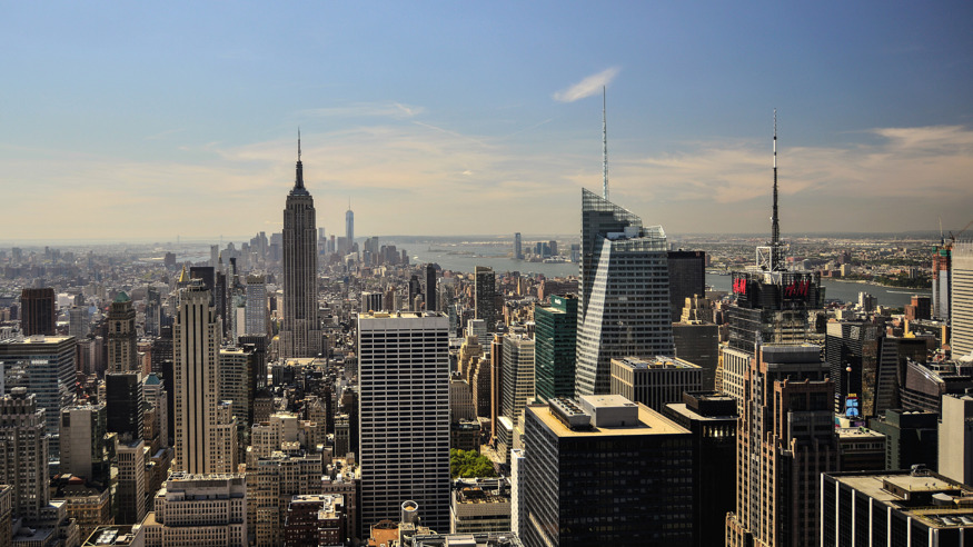 New York City skyline from Top of the Rock