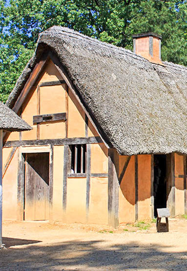 Historical homes in Colonial Williamsburg