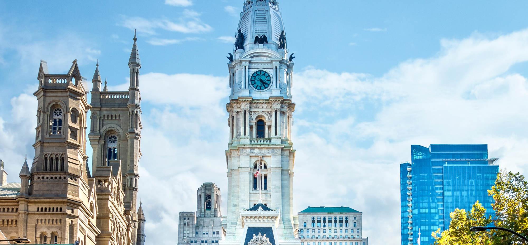 Large buildings in Philadelphia