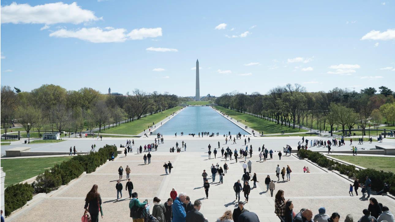 Reflection pool in Washington, D.C.