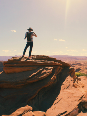 Student at Grand Canyon