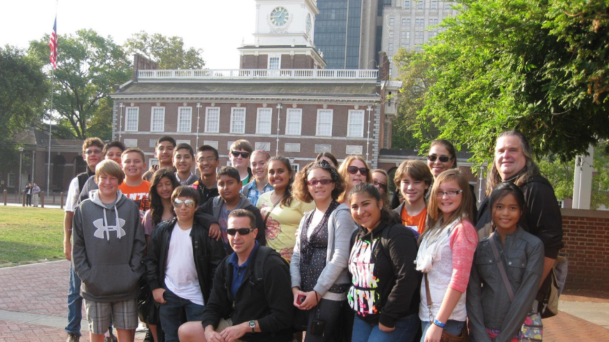 Group In Front of Independence Hall