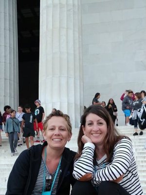 Teachers In Front of Lincoln Memorial